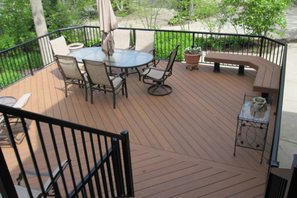 Trex Deck Blacking railing WPD